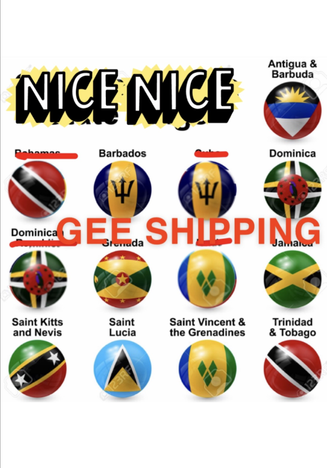 PRODUCT (15) Ship 1 Barrel to Dominica, St Lucia, Antigua, St Kitts, Guyana, Barbados, Trinidad, Grenada and St Vincent. (barrel is not included) FREE pick up only in London and (1) Free Lock.