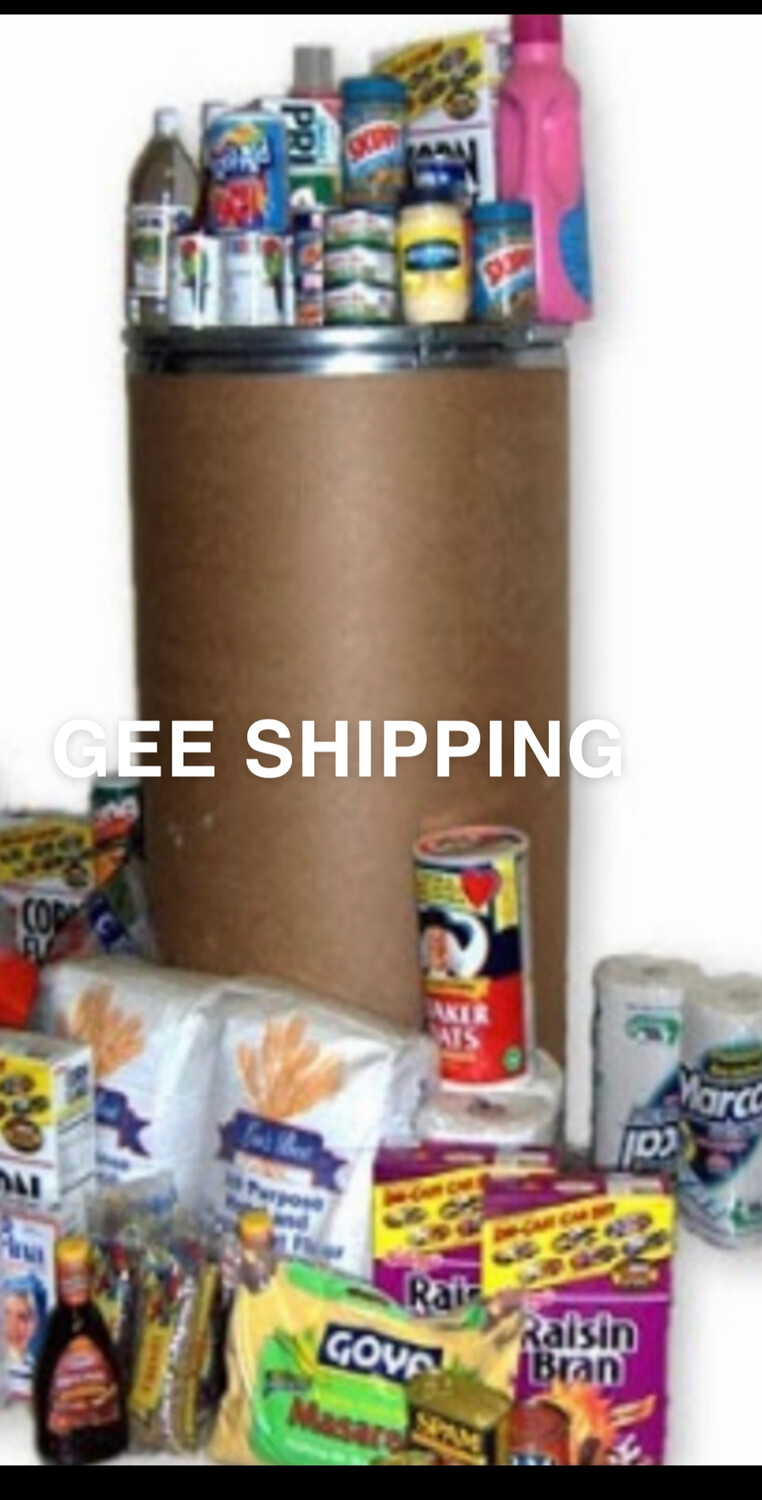 Product (05) ( PACK-A-BARREL FOR YOU) - (1) Barrel is packed and shipped from London ports to any Destination In The Caribbean. Arrival time 4 weeks to 5 weeks (barrels and Locks are included)