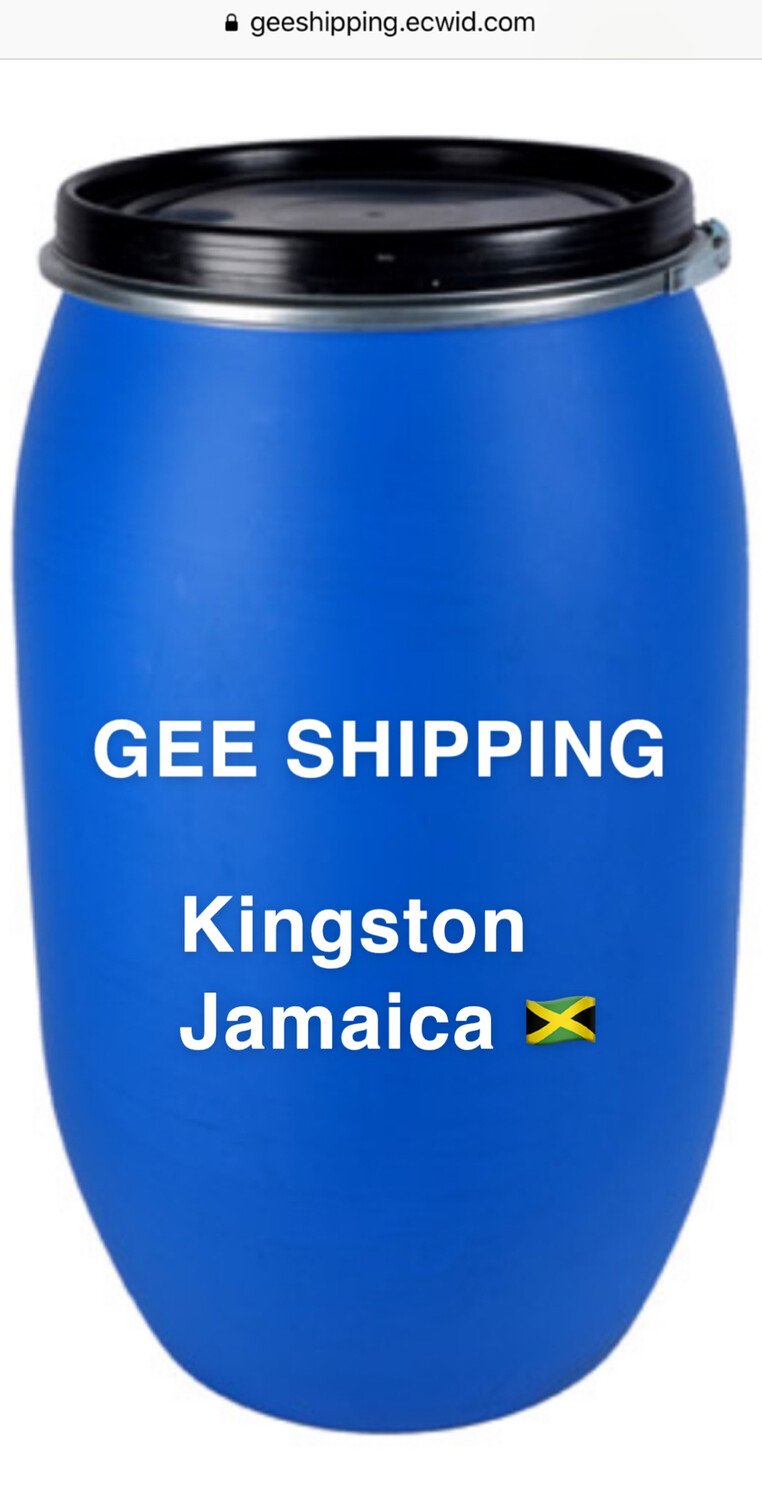 PRODUCT (13) Ship (1) barrel to (KINGSTON JAMAICA). Barrel is not included) FREE pick up only in the London area and (1) FREE lock.