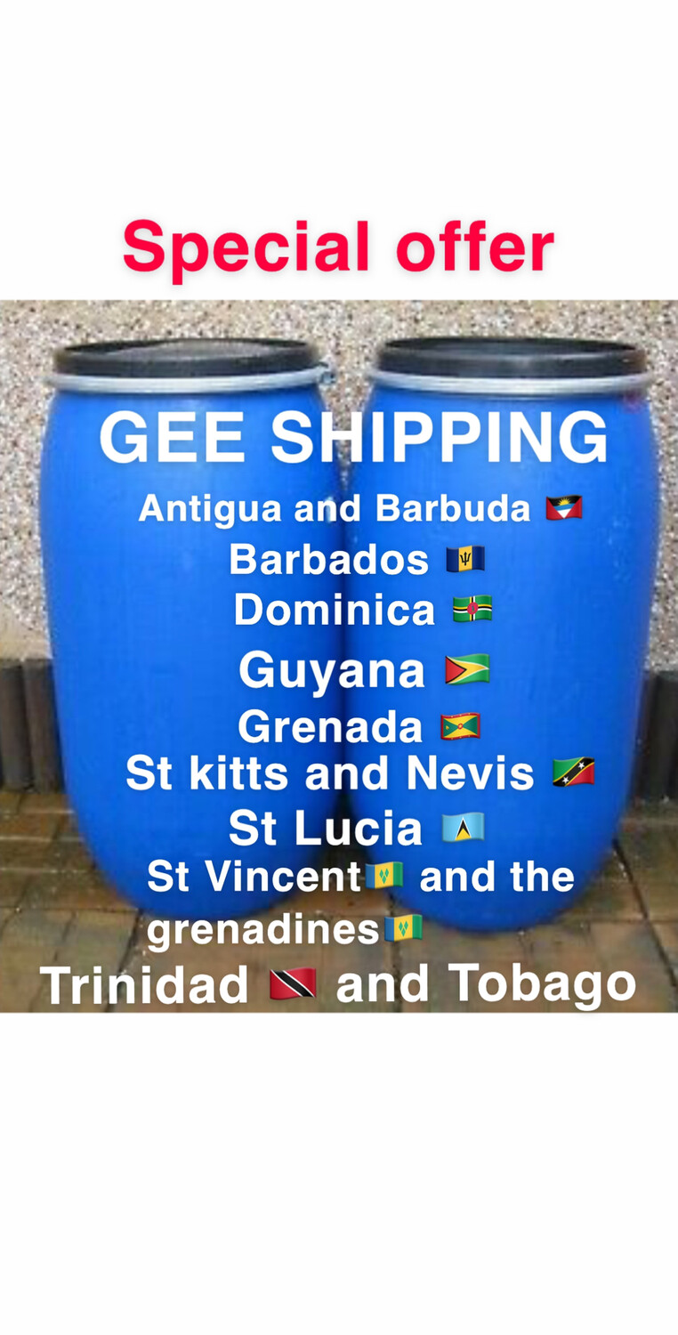 PRODUCT (70) Buy And Ship 🚢 (2 ) PLASTIC BARRELS ) Ship to Antigua🇦🇬 Barbados 🇧🇧 Dominica 🇩🇲  Grenada🇬🇩 Guyana 🇬🇾 Kitts and Nice 🇰🇳 St Lucia 🇱🇨 St. Vincent🇻🇨 Trinidad And Tobago 🇹🇹.
