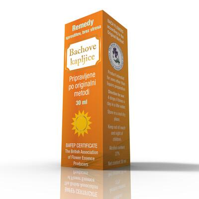 Dr. Bach kapljice Remedy, sprostitev brez stresa 30 ml