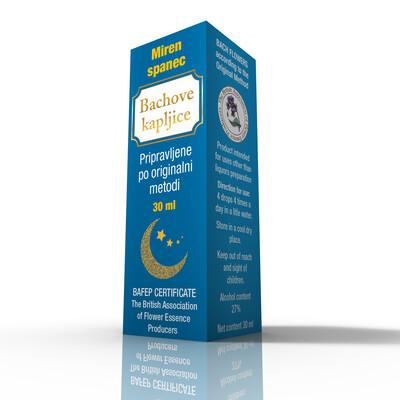 Dr. Bach kapljice miren spanec 30 ml