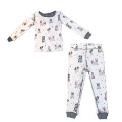 PJ Salvage Pawfection Ivory Children's Pajama Set - Mother Daughter   Size 5 and 6