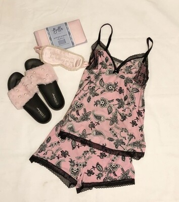 PJ Salvage Pink Paisley Cami Pajama Set