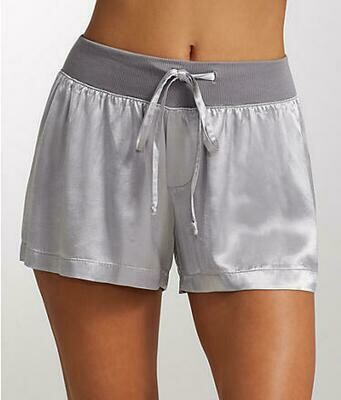 PJ Harlow Grey Satin Pajama Short - see colors offered