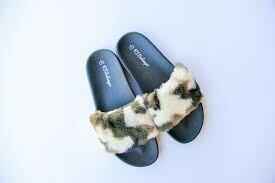 PJ Salvage Women's Camo Slipper Slides