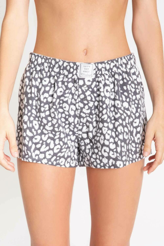 PJ Salvage Chelsea Leopard Soft Cotton Twill Pajama Short