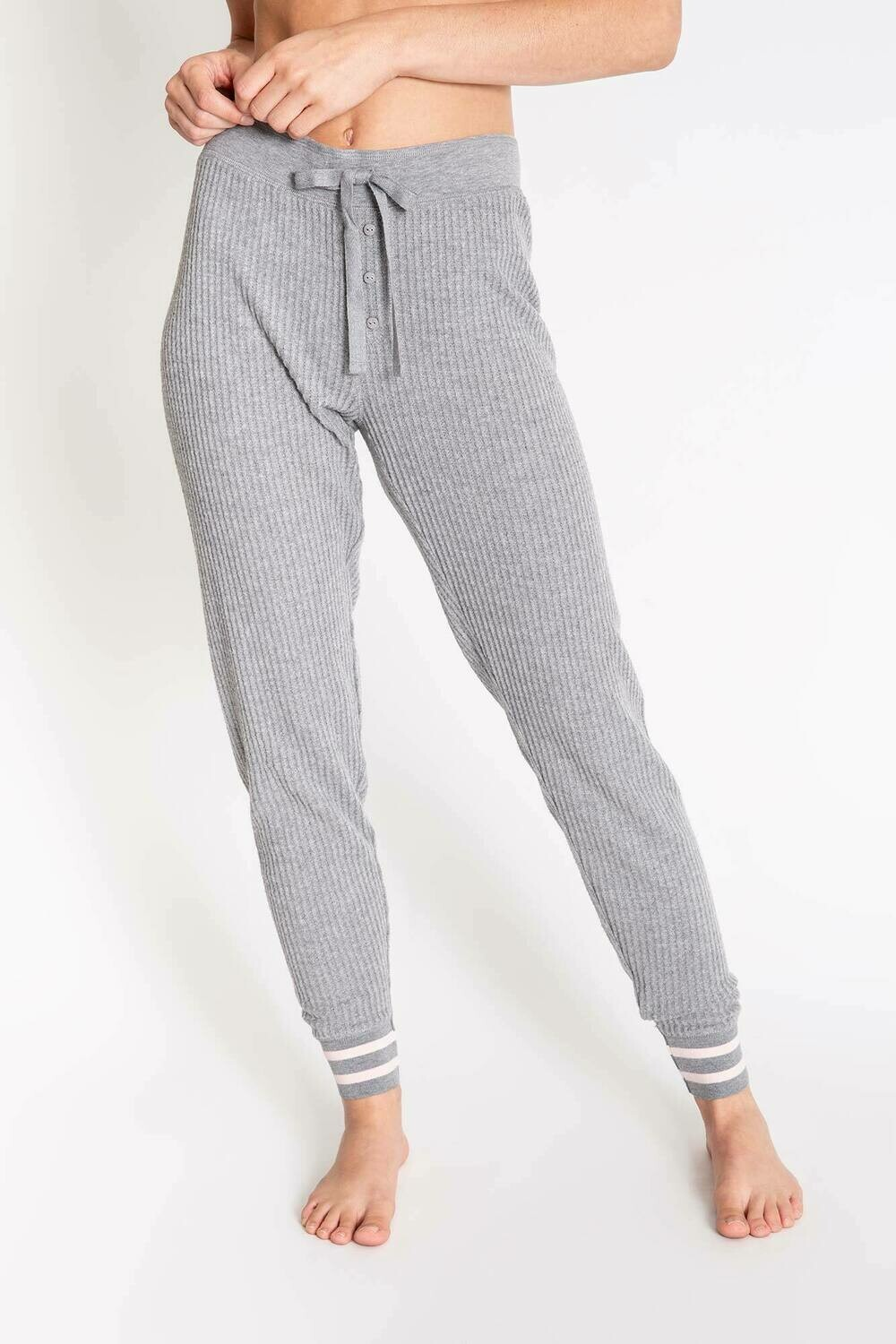 PJ Salvage Grey Cozy Draw String PJ Pant
