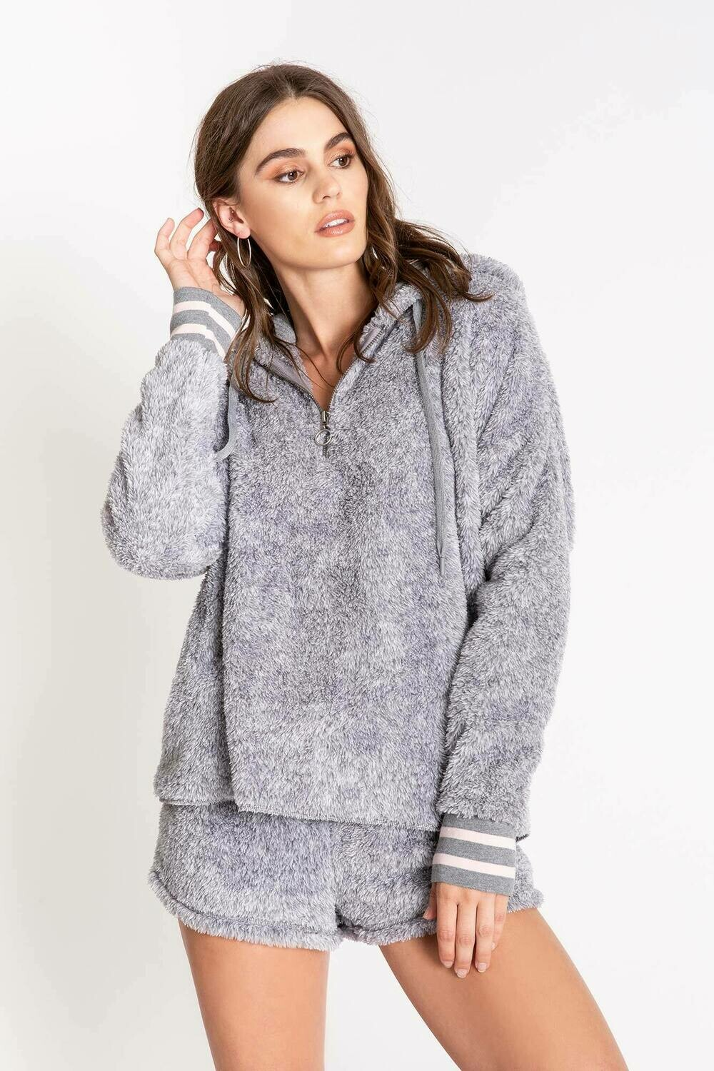 PJ Salvage Grey Cozy Hoody