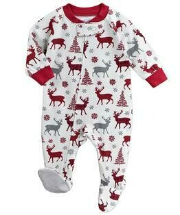 Saras Prints Super Soft Holiday Pajama Onesie