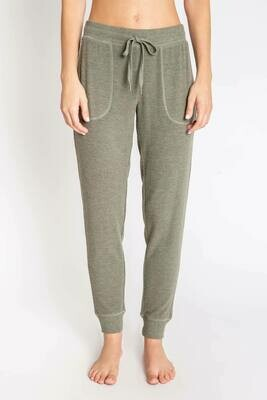 PJ Salvage Peachy Olive Jogger Lounge Pants