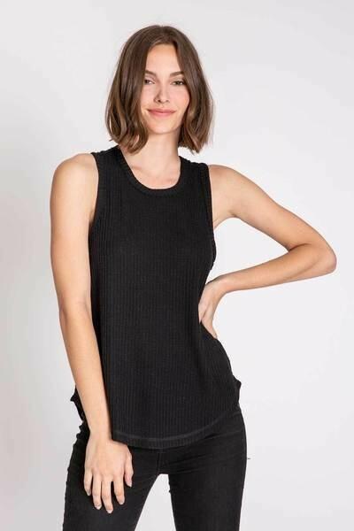 PJ Salvage Black Tank Thermal Shirt
