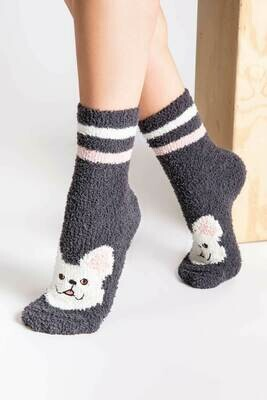 PJ Salvage Dog Fuzzy Fun Nonskid Socks