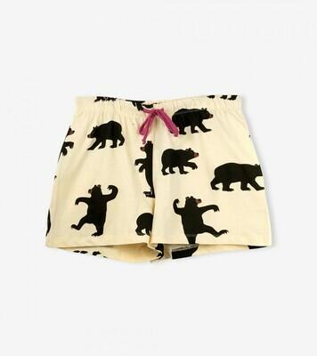 Black Bear Draw String Pajama Lounge Short