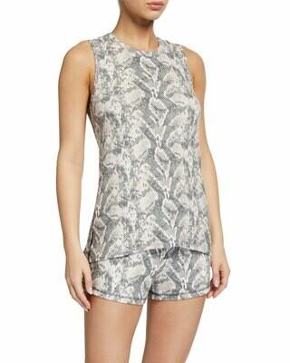 PJ Salvage Snake Skin Racerback Lounge Shirt Size S and L