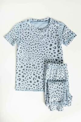 PJ Salvage Childrens Blue Leopard Children's Pajama Set