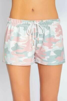 PJ Salvage Womens Spring Camo Pajama Short  Size XL