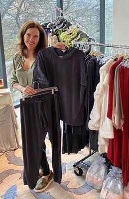 PJ Harlow Charcoal Loungewear Destiny Hoodie Top