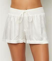 PJ Harlow Grey Satin Pajama Short - see colors offered
