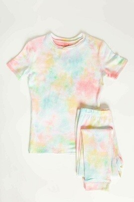PJ Salvage Spring Pastel Tye Dye Children's Pajama Set