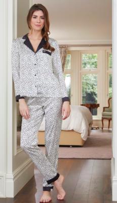 Women's Animal Spot Luxe Long Sleeve Pajama Set
