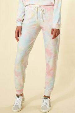 PJ Salvage Womens Tie Dye PJ Loungewear Jogger Pants