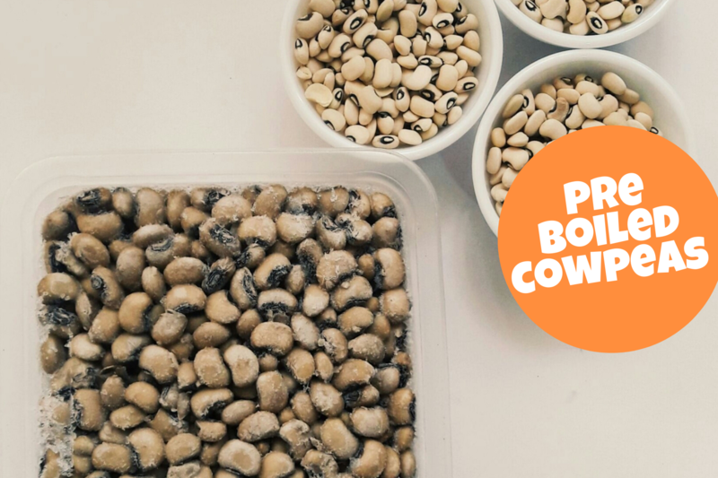 Pre Boiled Cow peas a.k.a black eyed peas a.k.a kunde 500g pack