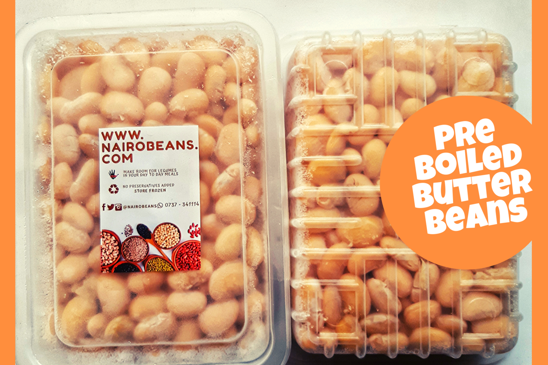Pre Boiled Butter beans 500g pack
