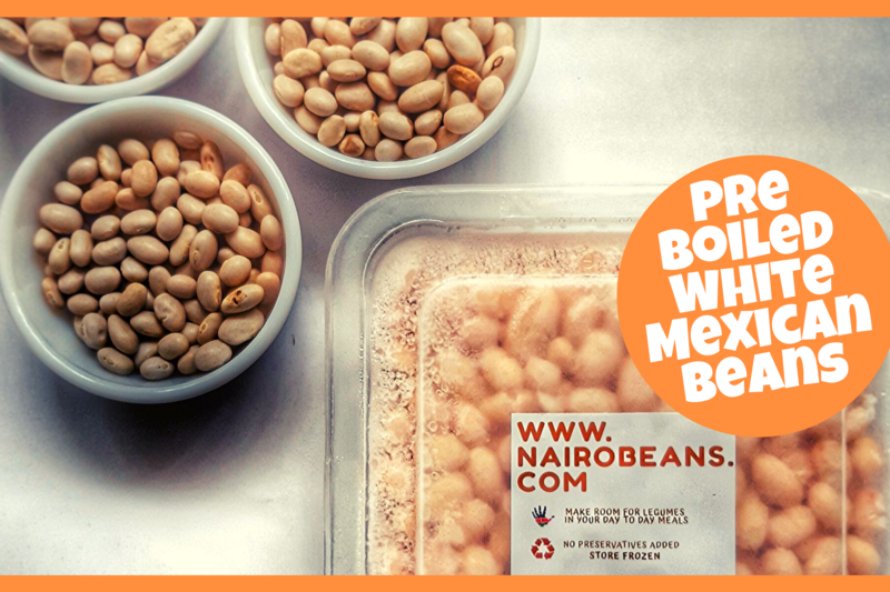 Pre Boiled White Mexican Beans 500g pack