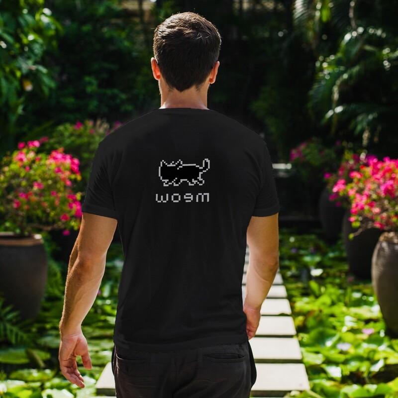 Meow! 8 Bit Retro Gaming Cat With Funny Backside - Dark Shirt Colors - Short-Sleeve Unisex T-Shirt