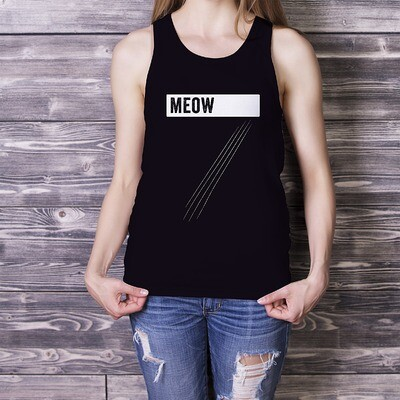 Meow & Cat Scratches - Classic tank top (unisex)