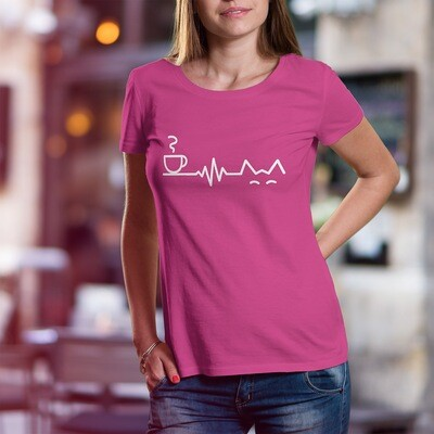 Coffee & Cat Lifeline - Unisex T-Shirt