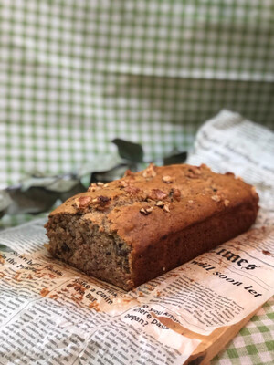 Slice of Fresh Vegan Banana Bread