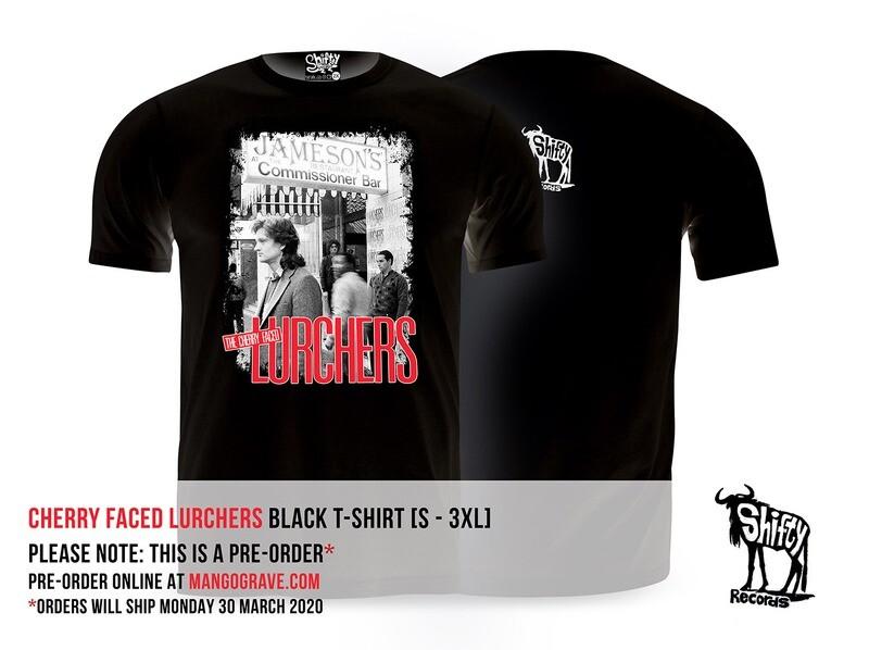 PRE-ORDER: Cherry Faced Lurchers (James Phillips) Black T-Shirt