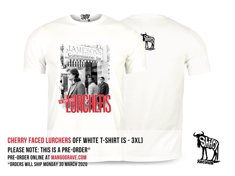 PRE-ORDER: Cherry Faced Lurchers (James Phillips) Off White T-Shirt