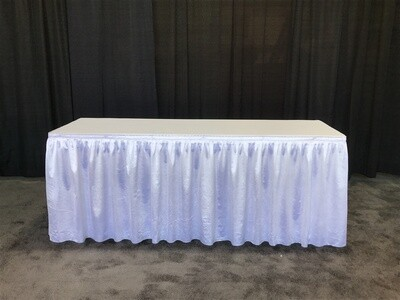 6' Skirted Table