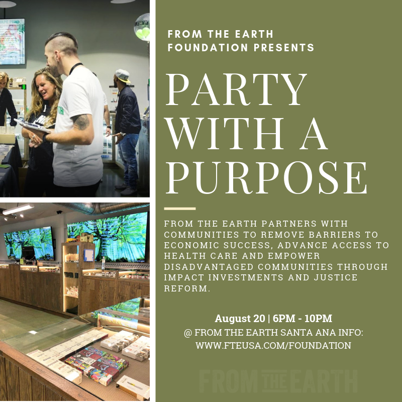 From The Earth: Party with a Purpose: Green Sponsor