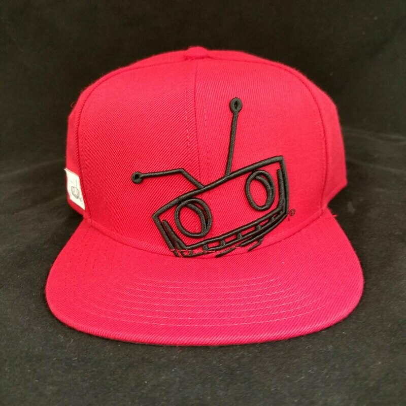 NEW Red Shady Robot Snapback