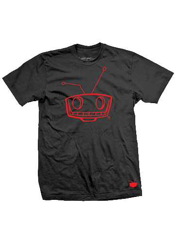 Shady Robot Logo Tee Red