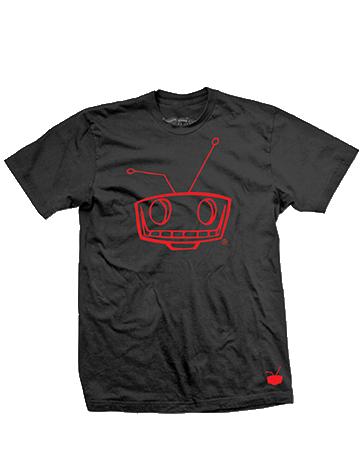 Shady Robot Logo Tee Red