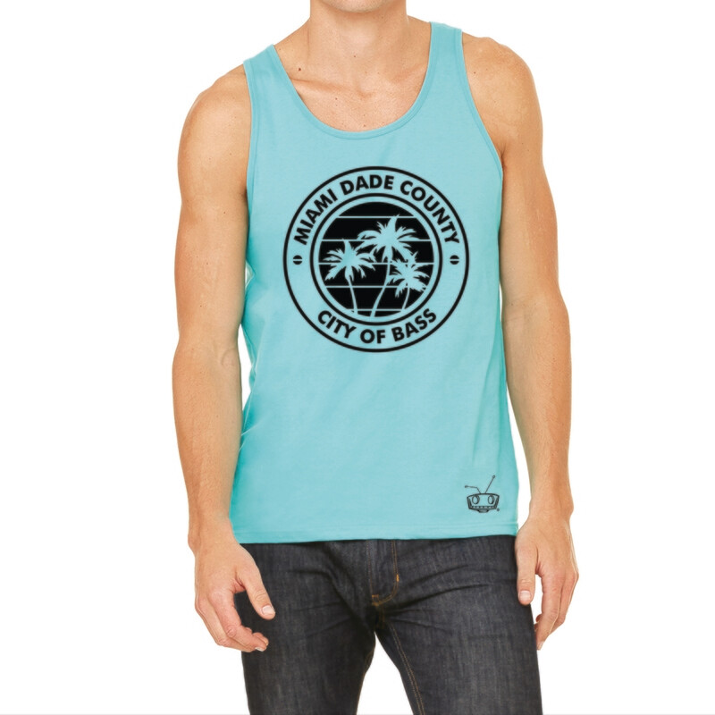 City Of Bass Teal Mens Tank