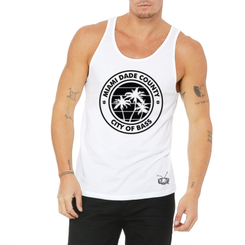 City Of Bass White Mens Tank