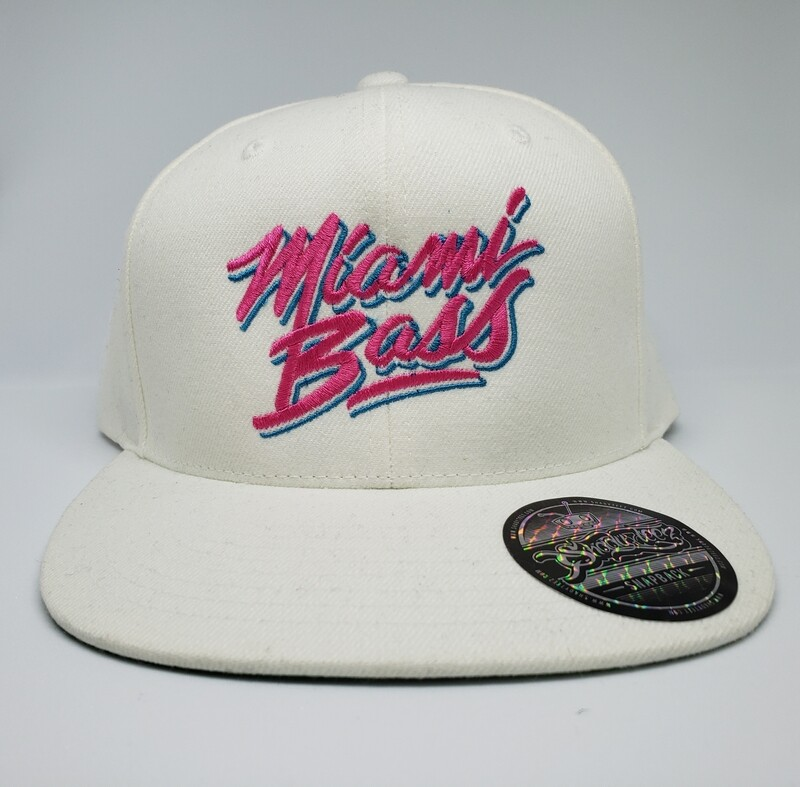 Miami Bass White Snapback
