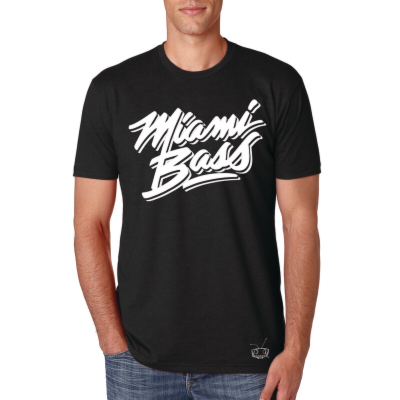 Miami Bass 1 color back tee