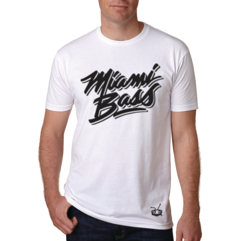 Miami Bass 1 color white tee