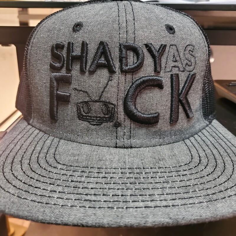 Grey Black Shady As Fuck Trucker Snapback
