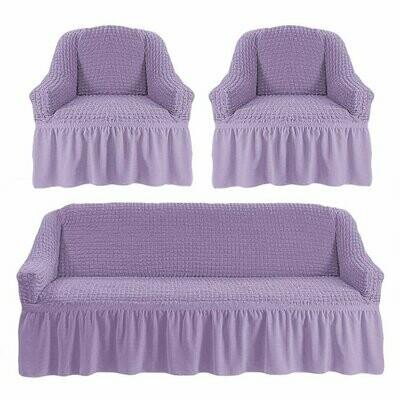 Комплект чехлов на трехместный диван и 2кресла