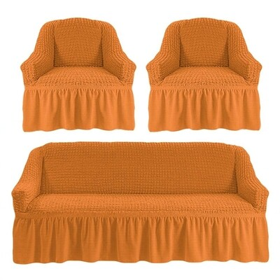 Комплект чехлов на трехместный диван и 2 кресла