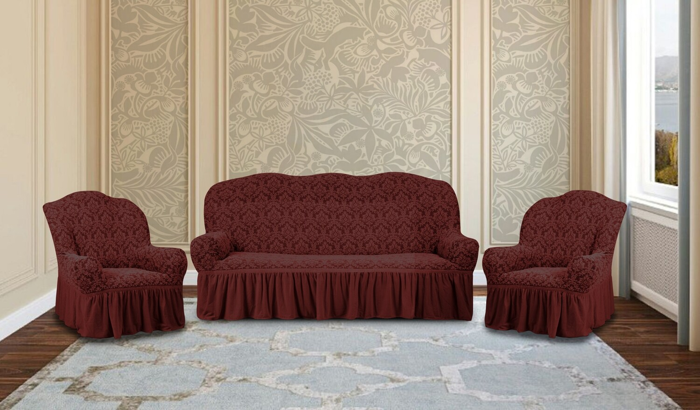 Комплект чехлов на 3-местный диван +2 кресла