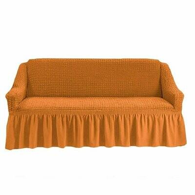 Чехол на трехместный диван с оборкой